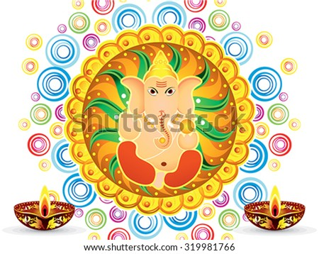 abstract artistic colorful artistic ganesh chaturthi vector illustration - stock vector