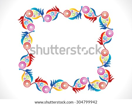 abstract artistic colorful border vector illustration