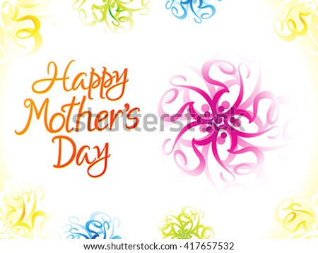 abstract artistic colorful mother's day background vector illustration - stock vector