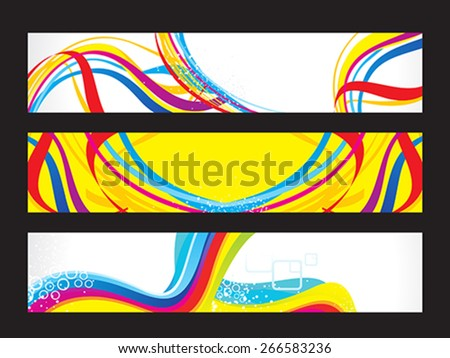 abstract artistic colorful web banners vector illustration