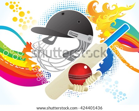 abstract artistic cricket background vector illustration - stock vector