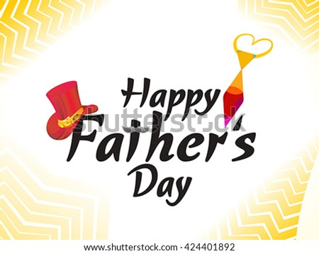 abstract artistic father's day background vector illustration - stock vector