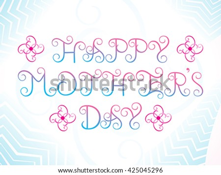 abstract artistic mother's day background vector illustration - stock vector
