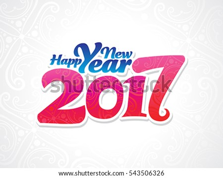 abstract artistic new year background vector illustration