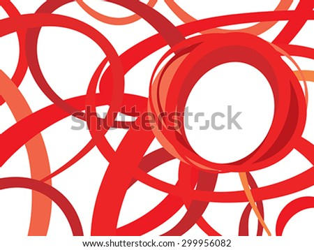 abstract artistic red background vector illustration - stock vector