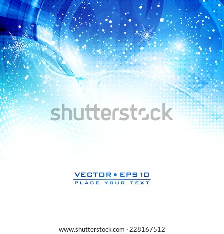 Abstract artistic shiny background with snowflakes for your winter holidays . Vector - stock vector
