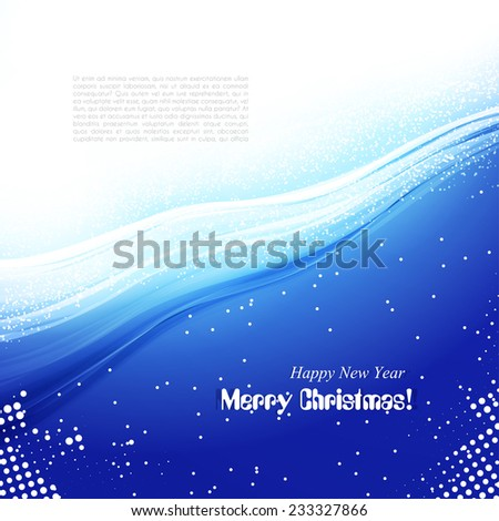 Abstract artistic soft light icy winter wave. Blue shiny background. Vector wallpaper