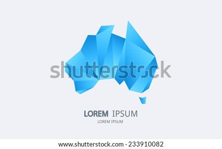 Abstract australia logo. Vector logotype design. - stock vector