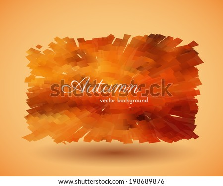 Abstract autumn background. Vector eps10. - stock vector