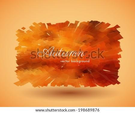 Abstract autumn background. Vector eps10. - stock vector