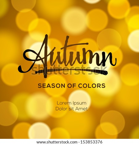 Abstract autumn defocused gold background, vector illustration.  - stock vector