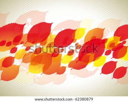 Abstract autumn leafs - stock vector
