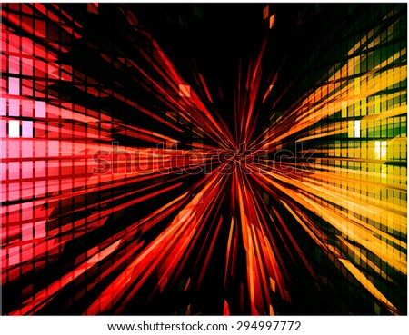 Abstract Backdrop Effect of red yellow ray. Technology background for computer graphic website internet. vector illustration. digital. infographics. beam light