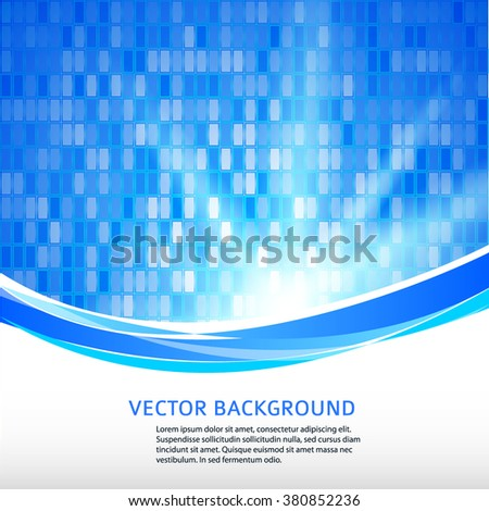 Abstract background advertising brochure design elements. Glowing light effect rectangle graphic form for elegant flyer. Vector illustration EPS 10 for booklet layout page, newsletters, web banner - stock vector