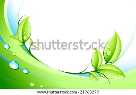 abstract background and leaves - stock vector