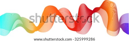 Abstract background as a rainbow ribbon on a white background
