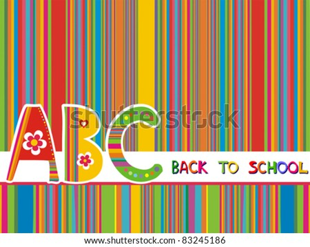 Abstract background back to school. Vector illustration. - stock vector