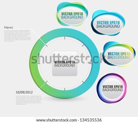 Abstract Background Banner. Vector - stock vector
