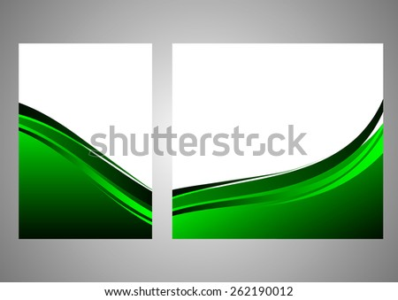 Abstract background beautiful green wave - stock vector