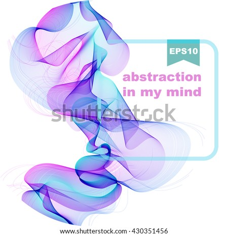 Abstract background, blue and violet background for beautiful design, Vector - stock vector
