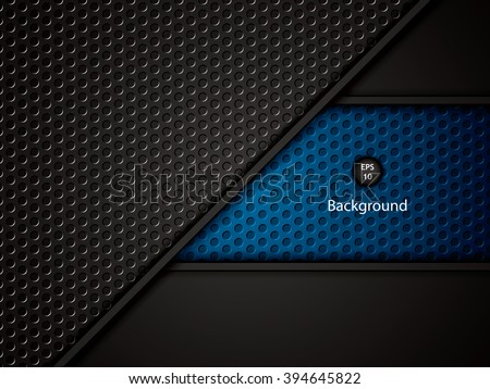 Abstract background, blue brochure, vector - stock vector