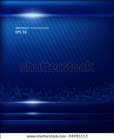 Abstract background blue flag american vector illustration - stock vector