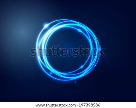 Abstract Background  Blue Glowing Circle vector illustration - stock vector