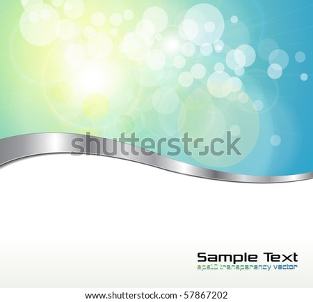Abstract background  blue green lights. Vector illustration. - stock vector