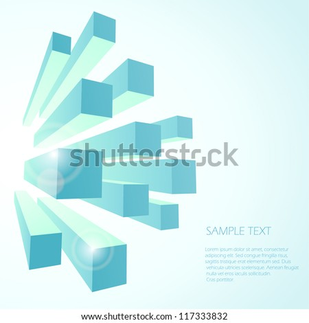 Abstract background,blue. Vector - stock vector