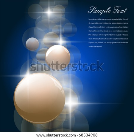 Abstract background blue with glowing lights, vector. - stock vector