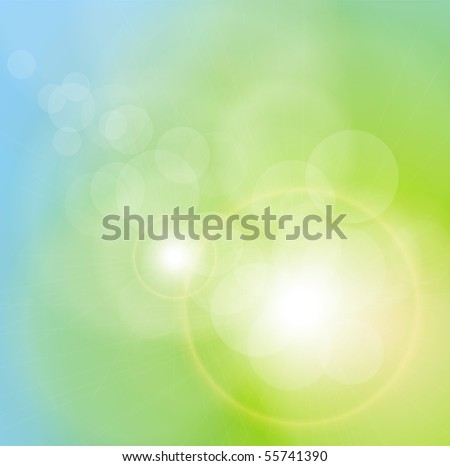 Abstract background blurry lights. Vector illustration. - stock vector