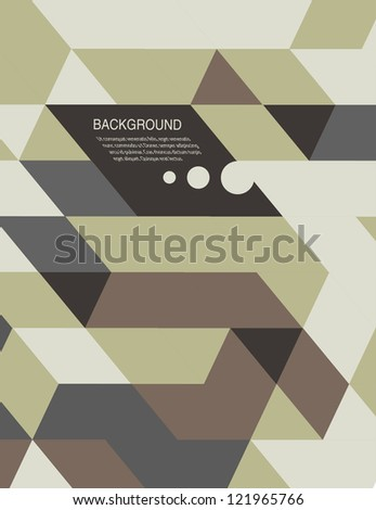 Abstract Background /book cover/retro mosaic brochure or banner - stock vector