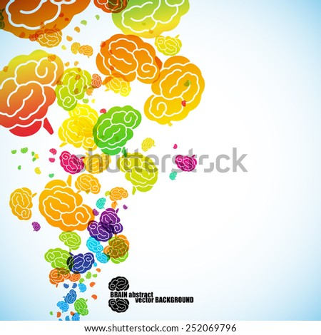 abstract background, brain