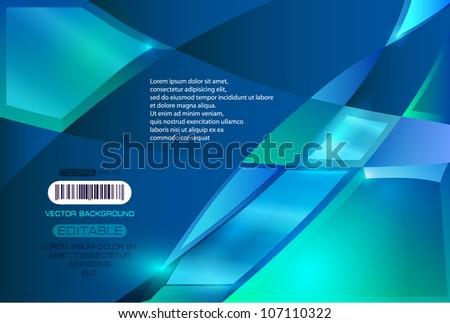 Abstract background. Broken glass style. - stock vector