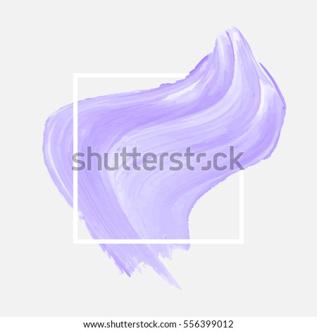 Abstract background brush paint texture design acrylic stroke illustration vector over square frame. Rough paper hand painted vector. Perfect design for headline, logo and sale banner.