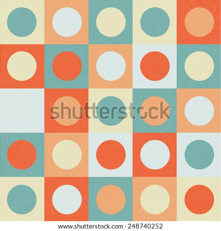 abstract background circles on the square vector - stock vector