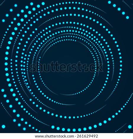 Abstract background. Circular Vector Halftone Dots Background.  Disco lights. Vector illustration. - stock vector