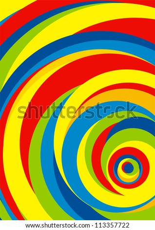 abstract background color stripes circle - stock vector
