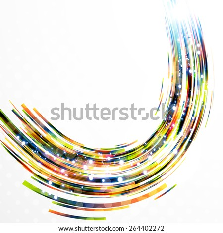 Abstract background-colorful swirl lines,vector design concept.  - stock vector