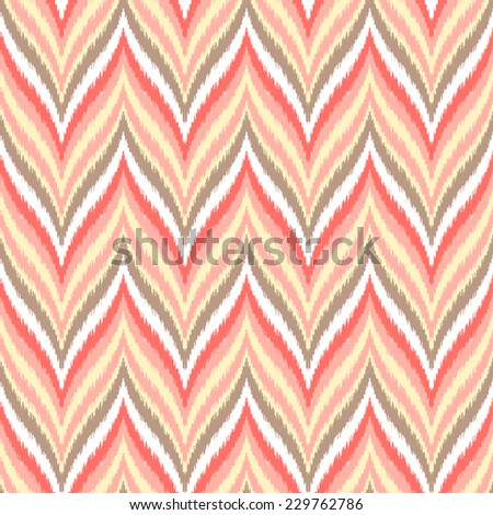 Abstract background. Colorful zigzag seamless pattern. Vector illustration. - stock vector