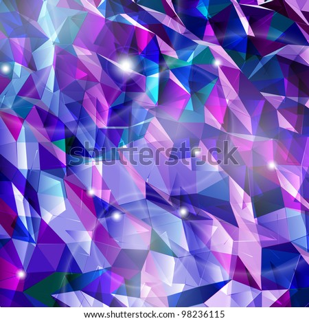 Abstract background. Combination of triangle. Vector - stock vector