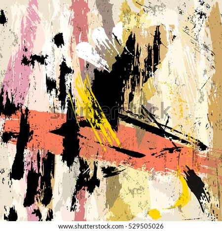 abstract background composition, with strokes and splashes