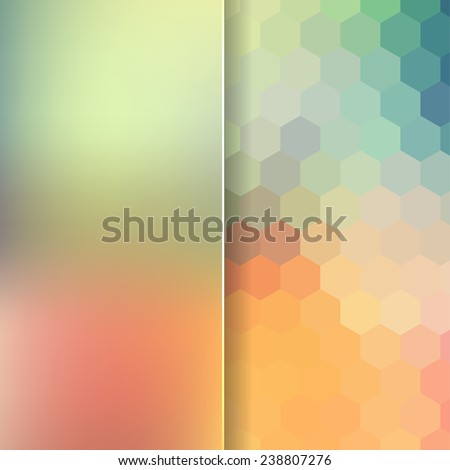 abstract background consisting of hexagons and matt glass - stock vector