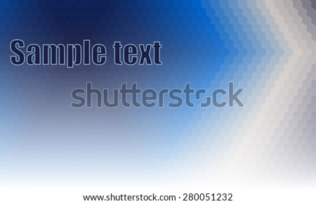 Abstract background consisting of hexagons in blue. Vector hexagonal background. - stock vector