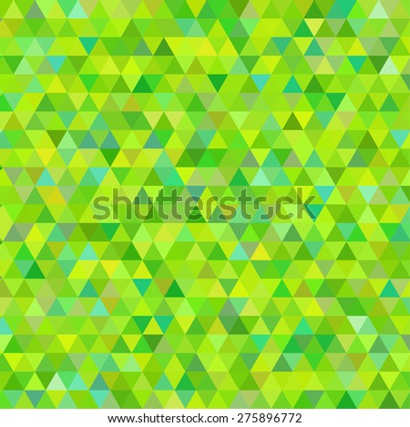 abstract background consisting of small  triangles - stock vector