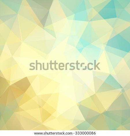 abstract background consisting of yellow, blue, beige triangles, vector illustration - stock vector