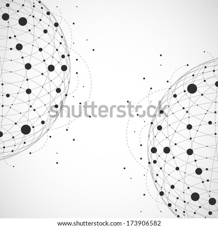 Abstract background. 3d sphere - stock vector