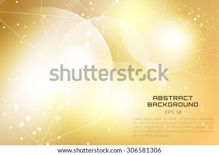 Abstract background design. Shine glow background. Wallpaper pattern. Bokeh background. Vector technology wallpaper. Triangle pattern. Low poly shapes. Colorful lines. Geometric art - stock vector