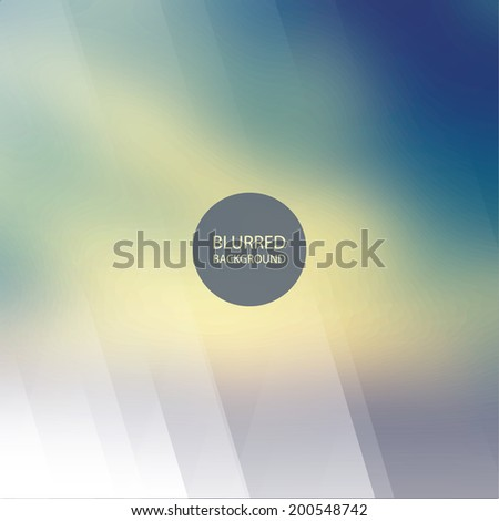 Abstract Background Design with Blurred and Striped Pattern - stock vector