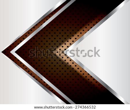 Abstract background elegant metallic, vector. - stock vector